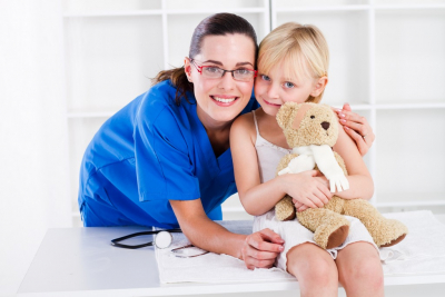 caregiver and a little girl